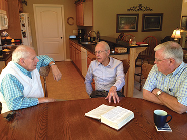 (From left) Howard Brammer, John Samples, and John Caldwell have a combined 150 years of preaching experience between them.