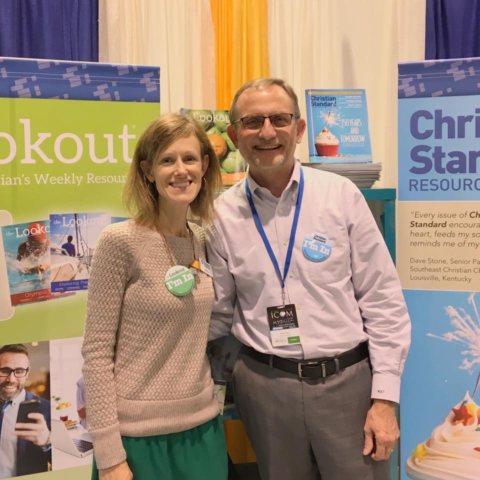 Kelly Carr, The Lookout editor, and I were pleased to meet many readers who visited our ICOM booth.