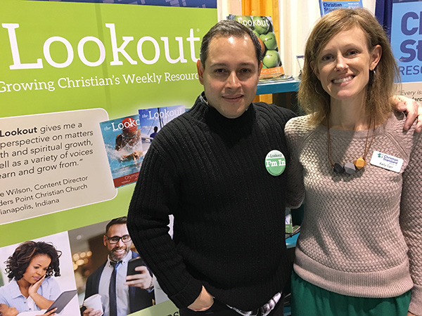 Miguel Lara, Cincinnati Christian University, and Kelly Carr, editor of The Lookout