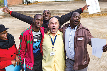 Rick Chromey celebrates a week of training with African brothers in Mooketsi, South Africa.