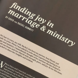 Finding Joy in Marriage and Ministry